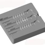Kokila za odstojni izolator - 3 komada