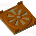 Resetka za kamin - muski model